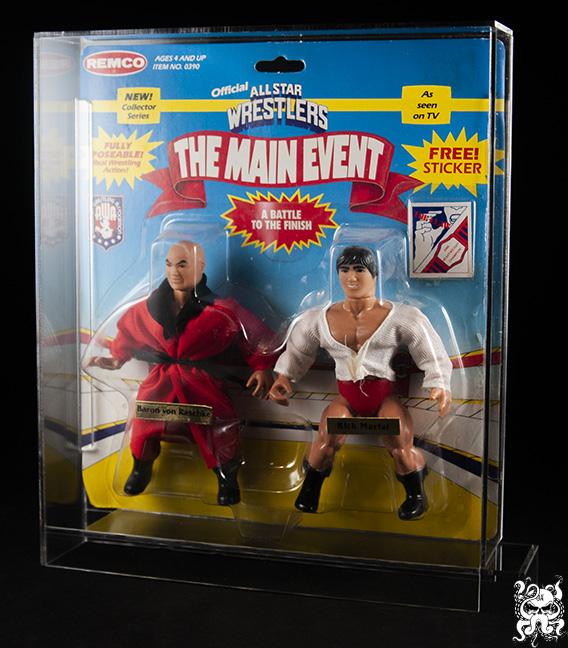 WWF WCW AWA Wrestling Figure Acrylic Display Case
